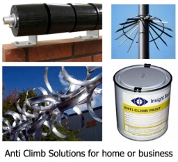 Anti-climb barriers, spinners and paints from Insight Security