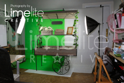 Product shoot setup-Astrid Jensen Chic Candy Carts