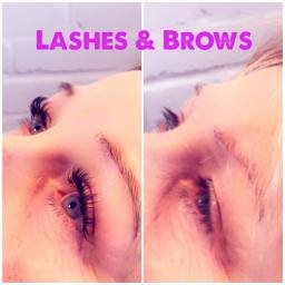 lashes and brows