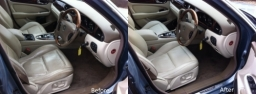 JAGUAR - BEFORE AND AFTER PHOTOS OF A FULL VALET.