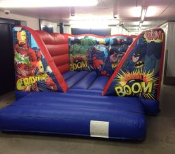 Low roof super hero bouncy castle