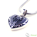 925 Sterling Silver Love Heart Pendant and Chain by Silver Nomad Jewellery UK
