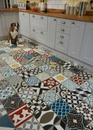 Pattern Tiles Make A Statement These Multi Colour Patchwork Encaustic Tiles From Ca Pietra Are Very Bold