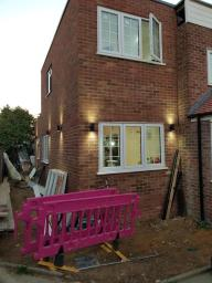 Side double storey extension