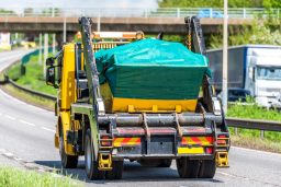 Warrington Skip Hire Delivery truck