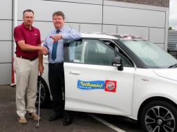 Golfer won a new MG3 from Nathaniel Car Sales Ltd