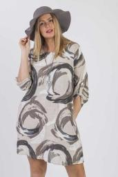 Cotton Abstract Circle Pattern Top