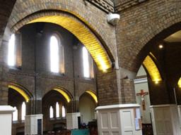 upper lighting installation on archways in london