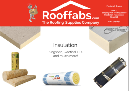 Insulation boards & rolls in various thicknesses.