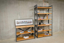 Reclaimed Timber Bookcase   KODA STUDIOS