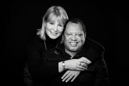 Ray and Julie black and white portrait