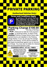 Parking Enforcement Sign Car Park Management