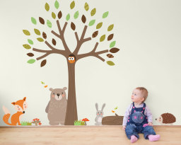 Woodland Friends wall sticker collection