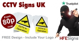 CCTV Signs From Just 80p +vat