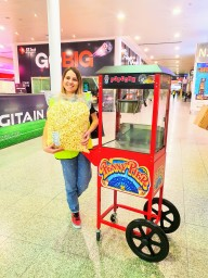 excel exhibition aylin sweets branded popcorn cart