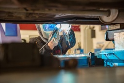 Welding repairs at Autokare Cambridge