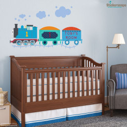 Personalised Thomas the Tank Engine wall sticker