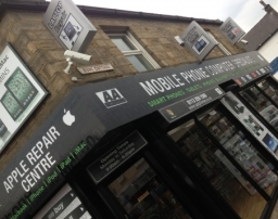 shop front for our repair centre in leeds.