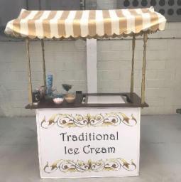 Traditional ice cream cart
