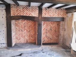 Herringbone Style Fireplace