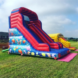 Party time mega slide and combo castle