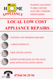 appliance repairs advert
