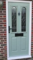 Solidor Composite door in Chartwell Green