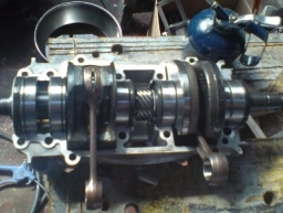 Seadoo 720 engine, new bearings and seals means there is lots of life left in it!!