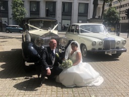 Vintage Rolls Royce and Daimler Limousine wedding