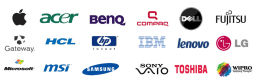 Hove Laptop Repairs & brands we work with