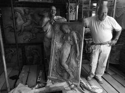 Plaster Bas relief