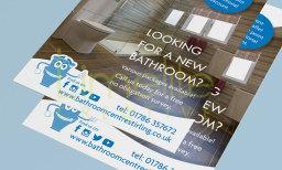 Flyer design for Bathroom Centre Stirling