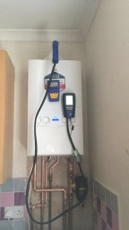 Boiler commissioning after install