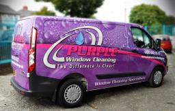 Purple Window Cleaning Van