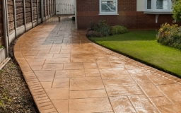 Stamp Concrete Driveway Fitted in North-West England