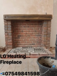 Hand built fireplace in Kirkby-in-Ashfield