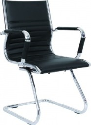 Leather & Chrome Visitor Chair