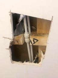 Plumbing in Wall