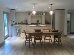 A new kitchen in an extension project on a 70's house in Haslemere