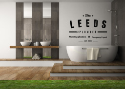 The Leeds Plumber Bathrooms and Logo