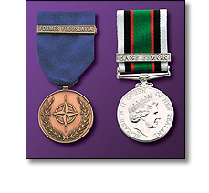 Military medals in Ribbons