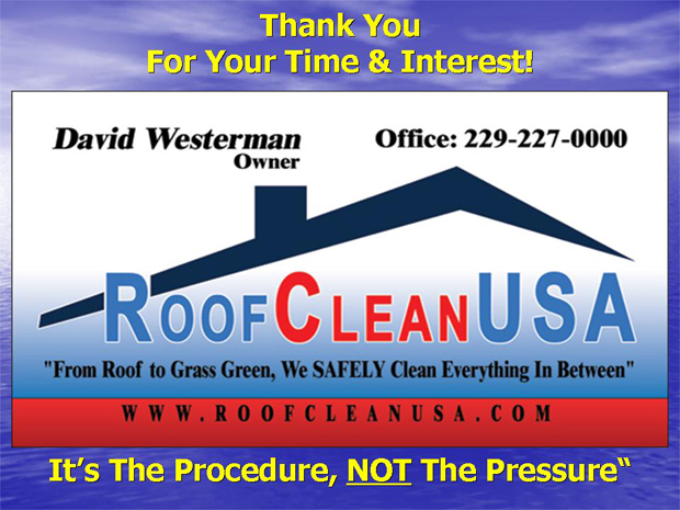 Roof Clean Usa 250 Two Point Trail Lane Thomasville Ga