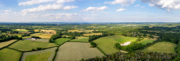 Kent countryside aerial photo
