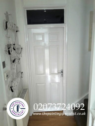 Door Walls and Skirting Boards Painted London
