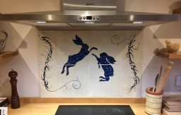 Boxing Hares Kitchen Backsplash