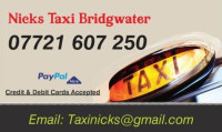Nicks Taxi Bridgwater