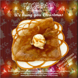 Crepe pancake christmas party catering