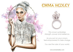 Silver Crown ring Illustration by Osseus Design
