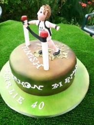 Marathon man birthday cake
