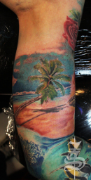 palm tattoo@ Stotker Tattoo